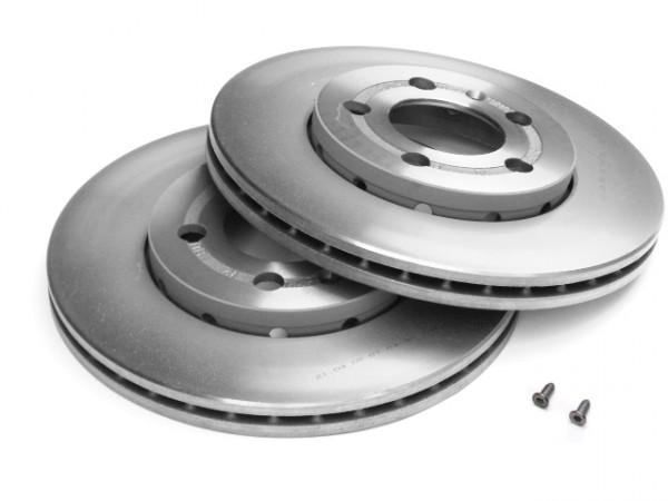 Original Audi Bremsscheiben Vorderachse Bremsen Scheibenbremsen vorn 80A615301F