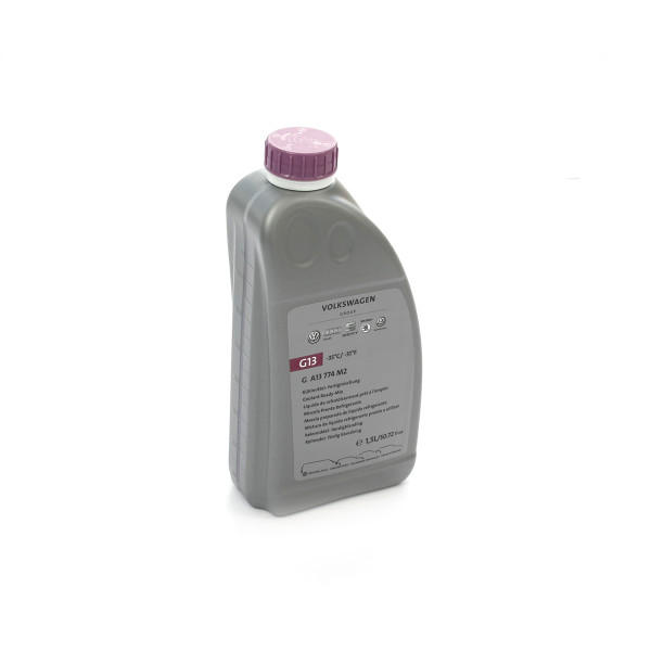 Original G13 Kühlflüssigkeit Kühlmittel VW Audi Skoda Seat Ready Mix 1,5L Flasche