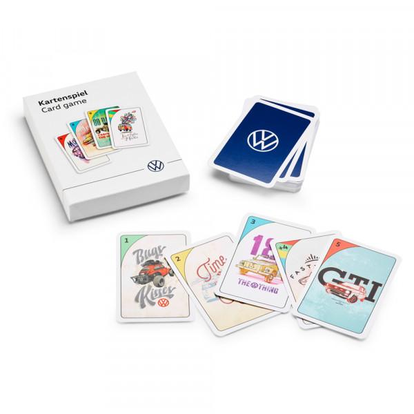 Original VW Kartenspiel Spiel Mau Mau Spielkarten Fahrzeugmotive 000087525G
