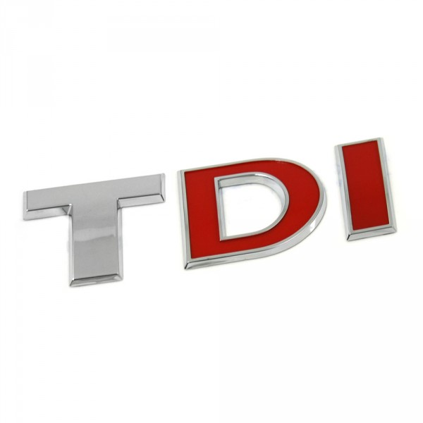 Original VW Amarok Crafter TDI Schriftzug hinten Logo chrom rot