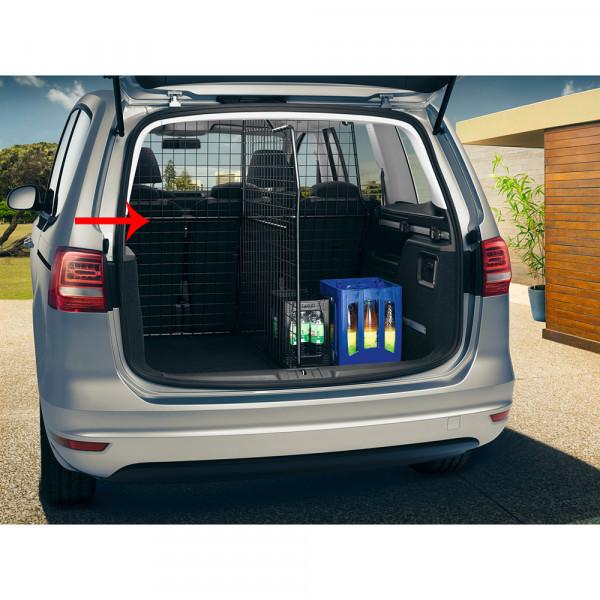 Original VW Sharan (7N) Trenngitter quer 5-Sitzer Kofferraum Netztrennwand 7N0017221B