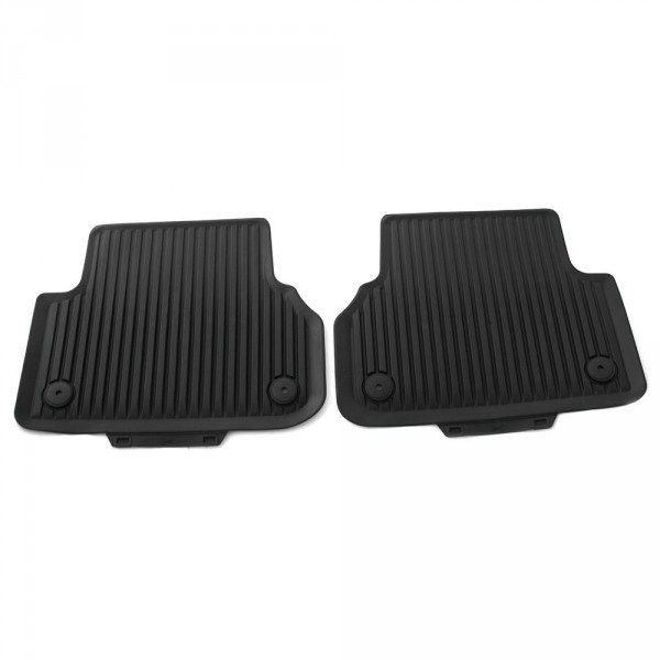 Original Audi A5 (B9) Coupe Gummi Fußmatten hinten Gummimatten Allwettermatten schwarz