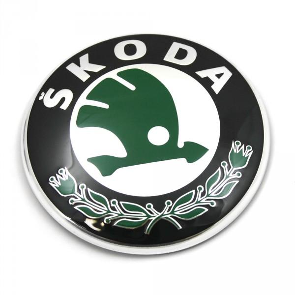 Original Skoda Zeichen vorne hinten Emblem Zeichen Logo Frontklappe Heckklappe