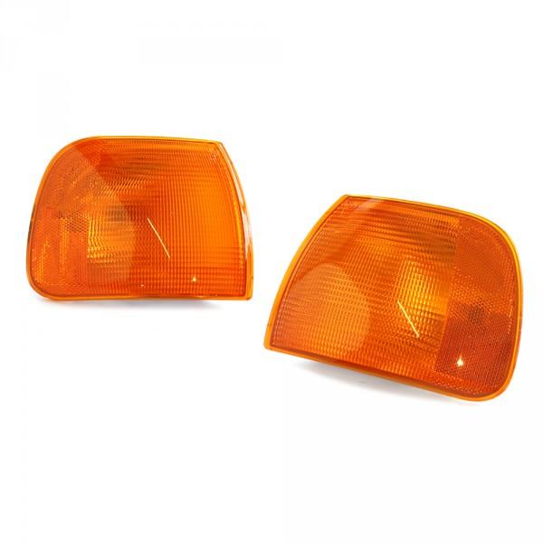 Original VW T4 US Blinkleuchten Set vorne Eurovan Leuchte gelb orange