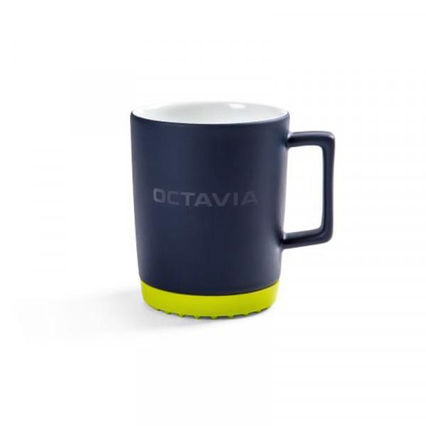 Original Skoda OCTAVIA Porzellanbecher Kaffeetasse Silikonuntersetzer Kaffeetasse Accessoires