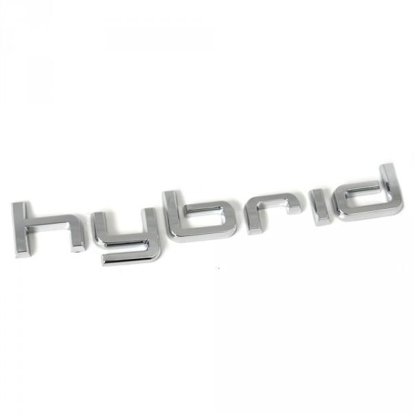 Original Audi Hybrid Schriftzug hinten Heckklappen Exterieur Emblem Logo Chrom