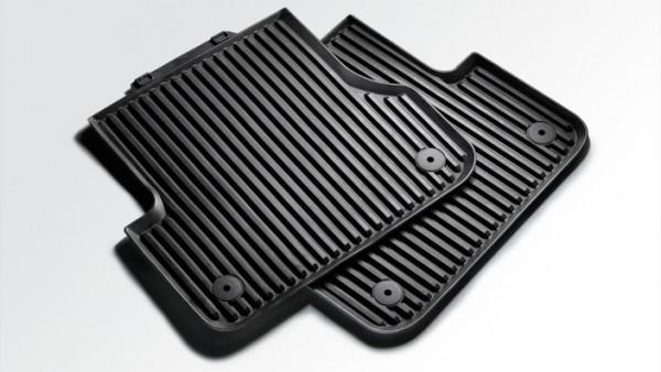 Original Audi A4 A5 Gummi Fußmatten 2-teilig hinten Premium Gummimatten Allwettermatten
