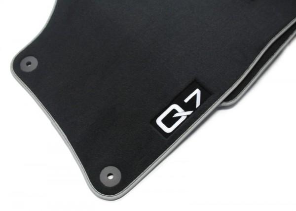 Fußmatten Premium Original Audi Q7 4L Velours 4er-Satz Soul / Silber