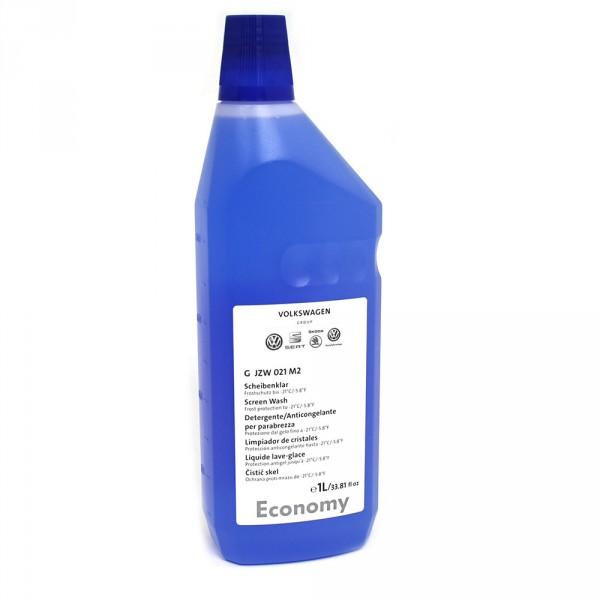 Original VW ECONOMY Scheibenklar -21°C Reinigungsmittel Frostschutz Reiniger 1 Liter