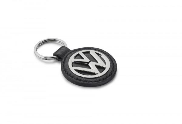 Schlüsselanhänger, Original VW, Leder/Metall, schwarz