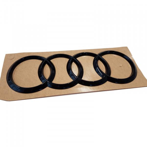 Original Audi Q3 Sportback Audi Ringe schwarz Tuning Exclusive Black Edition Emblem 8V7071802