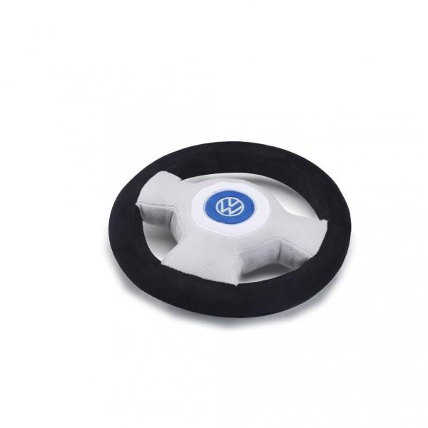 Plüschlenkrad mit Quietschhupe und Volkswagen Logo