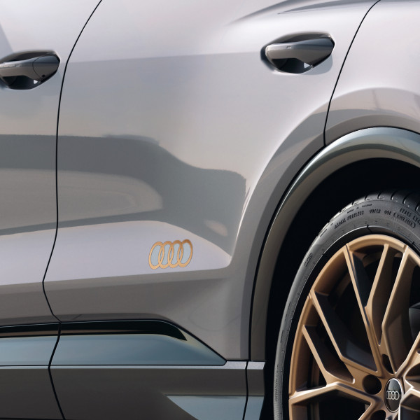 Original Audi Dekorfolie Audi Ringe bronze matt Exterieur Schriftzug Logo 89A06431750C