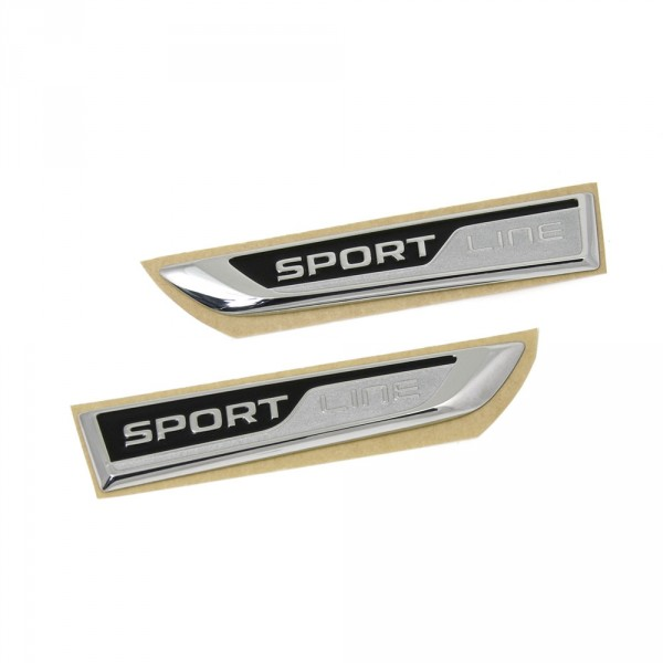 Original Skoda Superb (3V) SportLine Schriftzug Set seitlich Kotflügel Emblem