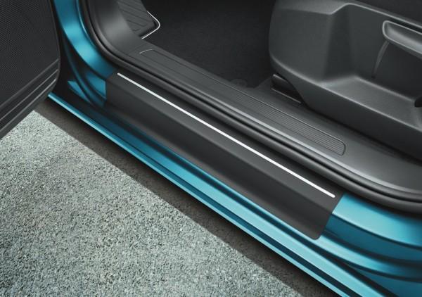 Schutzfolie Einstiegsleisten Original VW Touran schwarz silber 4-teilig 5QA071310ZMD