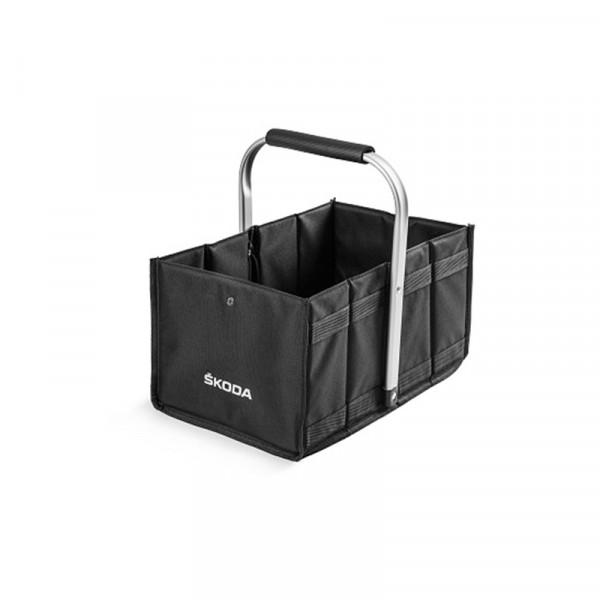 Original Skoda Einkaufskorb Faltkiste Transport Box Accessoires Lifestyle Tasche schwarz
