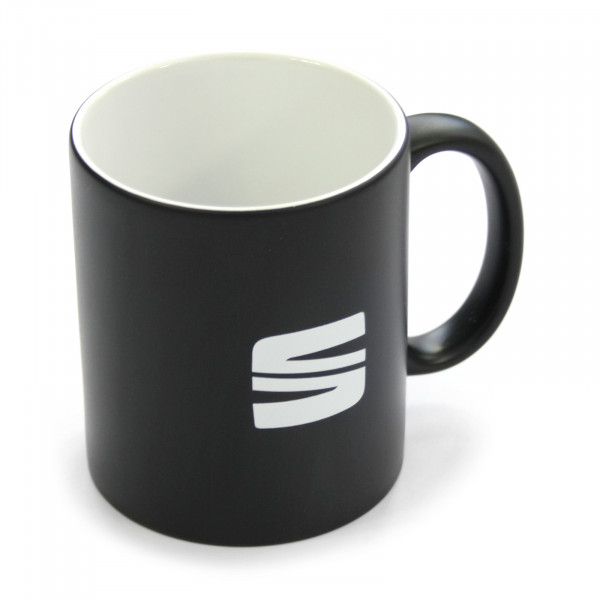 Original Seat Tasse schwarz Kaffeetasse Keramiktasse Becher Accessoires 6H1069601KAA