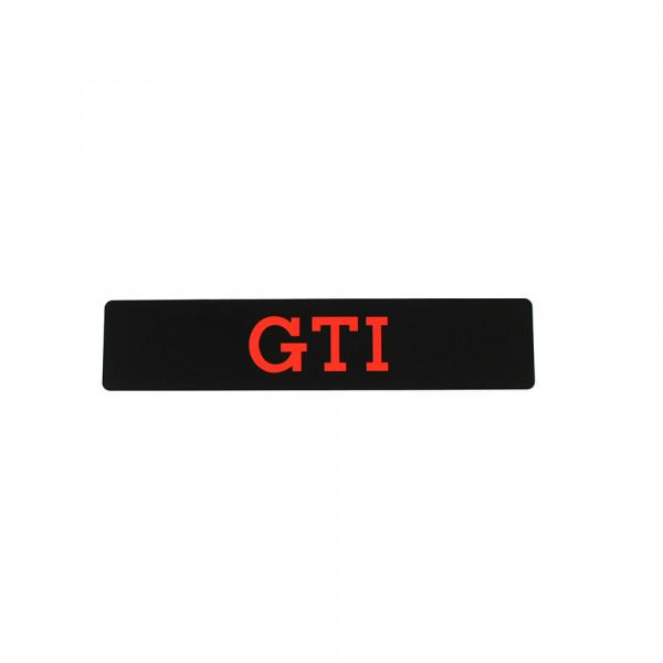 Original VW GTI Kennzeichenschild Nummernschild GTI Design Schild schwarz/rot