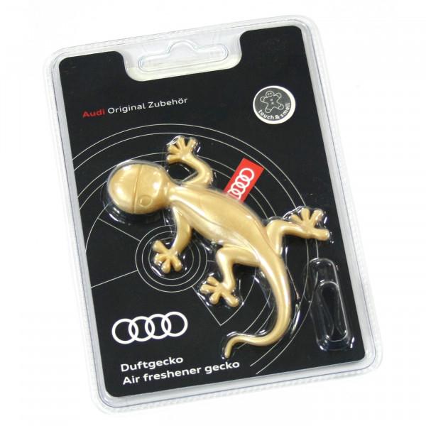 Original Audi Duftgecko Goldoptik Lufterfrischer aromatisch-zimtig 000087009AS