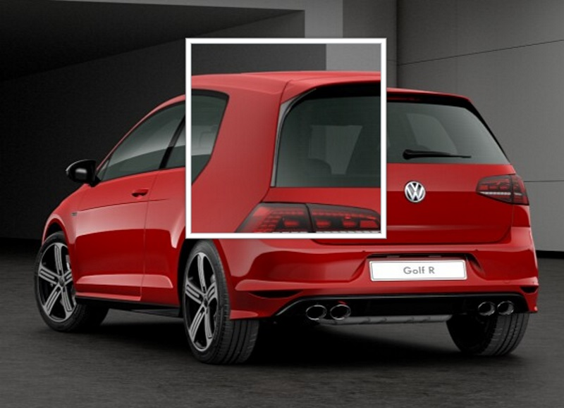 vw golf 7 gti r line vertikal spoiler set heckklappe. Black Bedroom Furniture Sets. Home Design Ideas