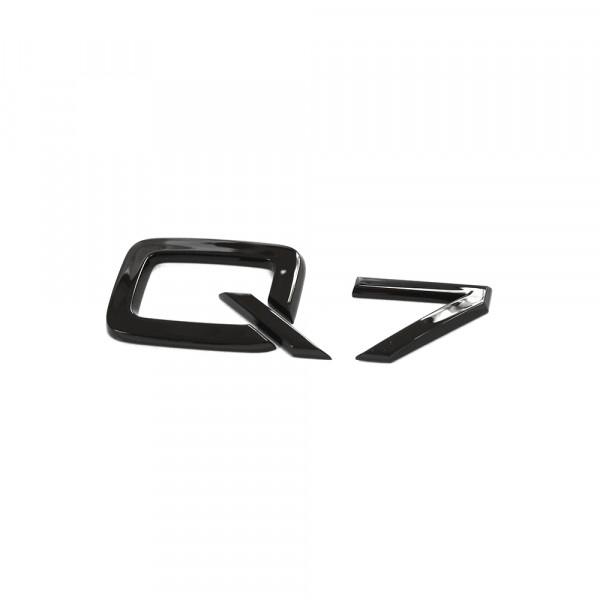 Original Audi Q7 Schriftzug schwarz Tuning Exclusive Black Edition Emblem