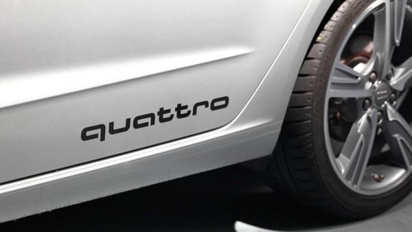 Dekorfolie quattro Schriftzug Brilliantschwarz Original Audi Tuning Folie