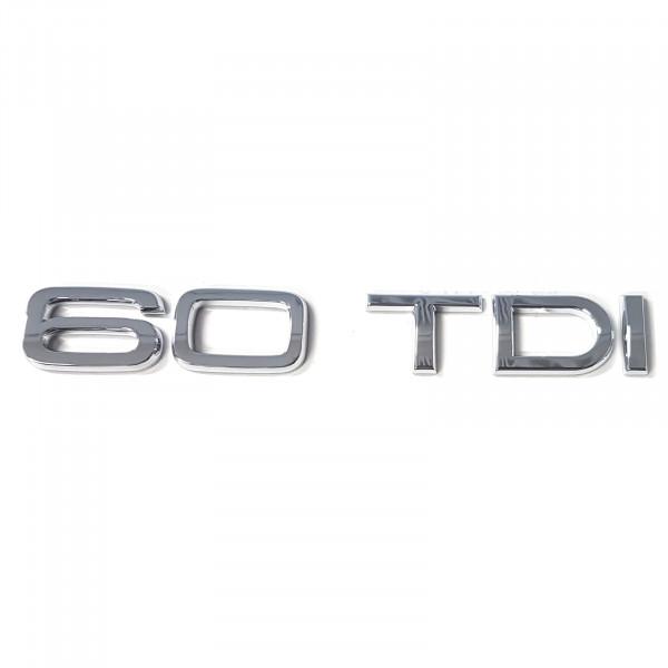 Original Audi Schriftzug 60 TDI Emblem Logo Aufkleber Diesel chrom glänzend 4N0853744D2ZZ