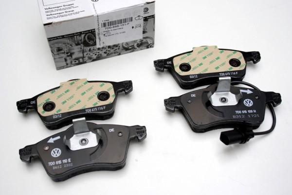 Original VW Bremsbeläge T5 vorn Bremsen 2E4 17 Zoll 7H0698151A bis 2010