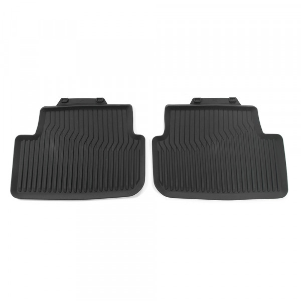 Original Audi A1 (GB) Sportback Gummi Fußmatten hinten Gummimatten Allwettermatten schwarz