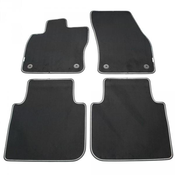 Original VW Tiguan Allspace Premium Textilfußmatten Velours Fußmatten satinschwarz 4-teilig