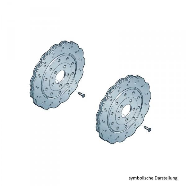 Original Audi Bremsscheiben R8 Bremsen Hinterachse gelocht 420615601J