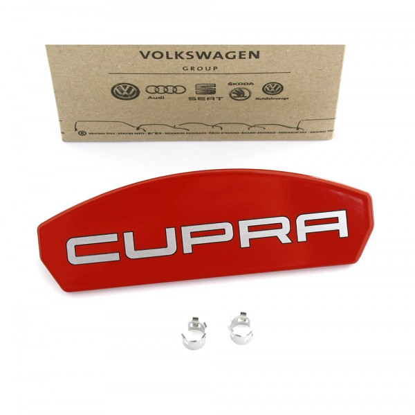 Cupra Reparatursatz Blende Emblem rot Original Seat Leon (5F) Tuning Bremssattel Vorderachse