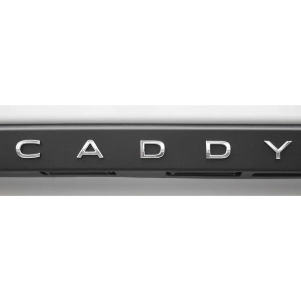 Original VW Caddy 5 (SB) Schriftzug Aufkleber Emblem Heckklappe Logo chrom glänzend