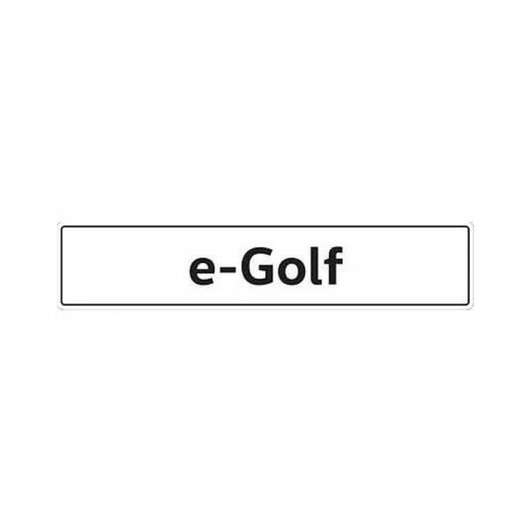 Original VW Kennzeichenschild e-Golf Nummernschild Kennzeichen Typenschild 5GE071801