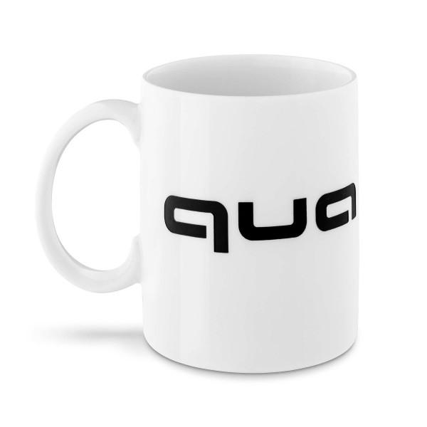 Original Audi Sport Tasse Quattro Porzellantasse Logo weiß/schwarz