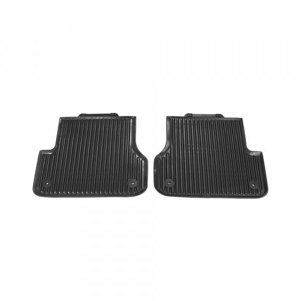Gummi Fußmatten hinten Original Audi A6 A7 (C7) schwarz Allwettermatten Gummimatten