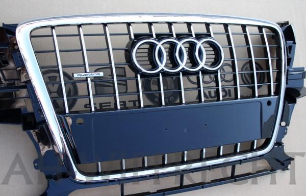 Audi Q5 8R Chromgrill Original Tuning Kühlergrill PDC Klavierlack Chrom Grill