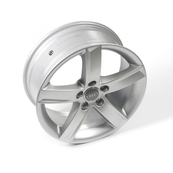 Original Audi Aluminiumfelge Alufelge 17 Zoll Leichtmetallfelge Gussrad 5-Arm-Design 8K0071497A8Z8