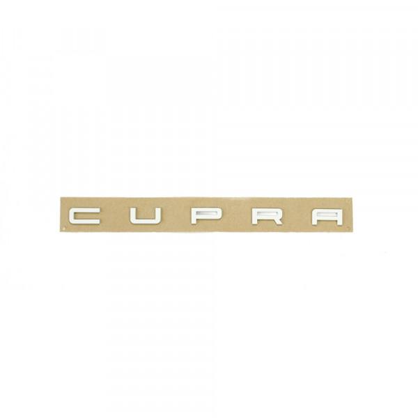 Original Seat Leon (5F) Cupra Schriftzug hinten Heckklappe Tuning Emblem reinweiss