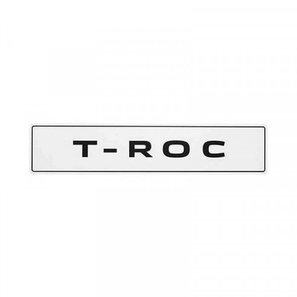 Original VW Kennzeichenschild T-Roc Nummernschild Kennzeichen Typenschild 2GA071801