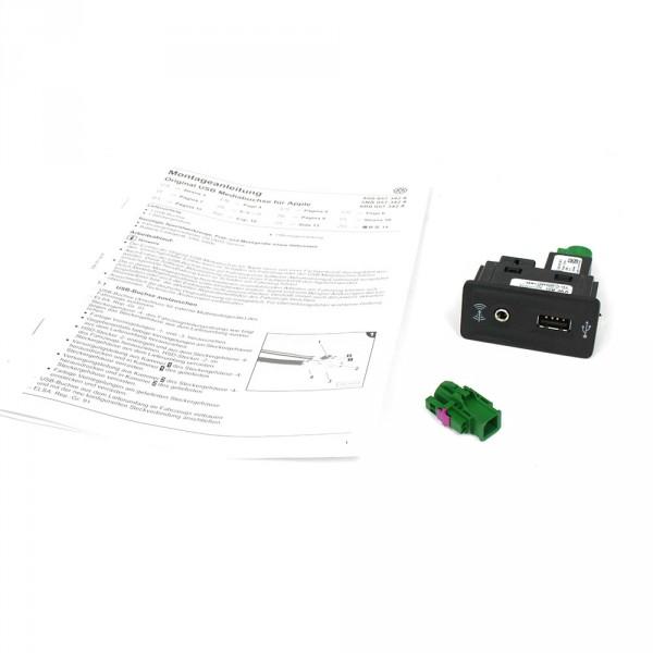 Original VW Multimedia-Kit Apple USB Buchse Nachrüstung Multimedia 3G0057342A