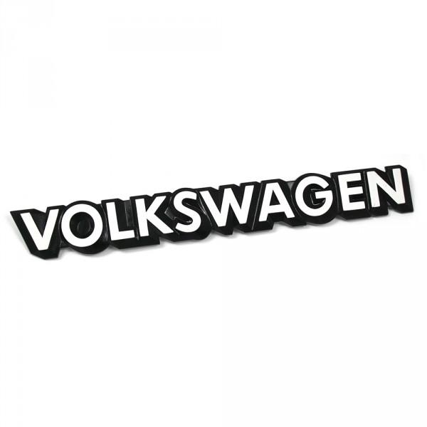 Original VOLKSWAGEN Schriftzug hinten Heckklappen Emblem schwarz weiß