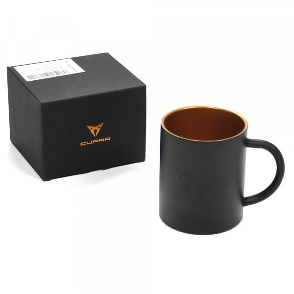 Original Seat Cupra Tasse Schwarz Kupfer Edelstahl Becher Mug Kaffeetasse