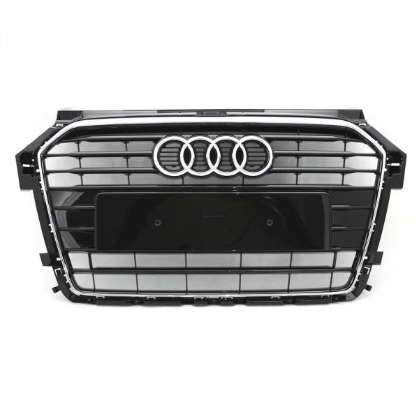 Original Audi A1 (8X) Facelift S-Line Kühlergrill Tuning Grill schwarz glänzend chrom