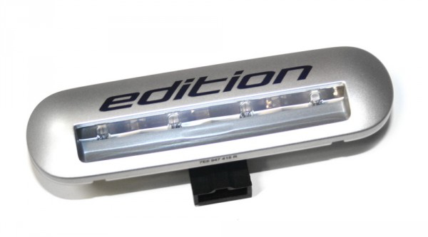 """Einstiegsleuchte """"EDITION"""" Original VW T5 Transporter Einstieg Beleuchtung silber-metallic"""