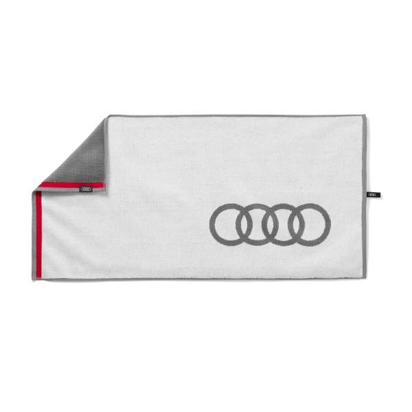 Original Audi Sport Handtuch 50x100cm weiß/grau Badetuch Strandtuch