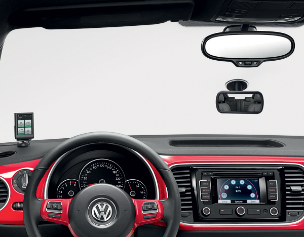 Original VW Zusatz Innenspiegel, Saugfußbefestigung