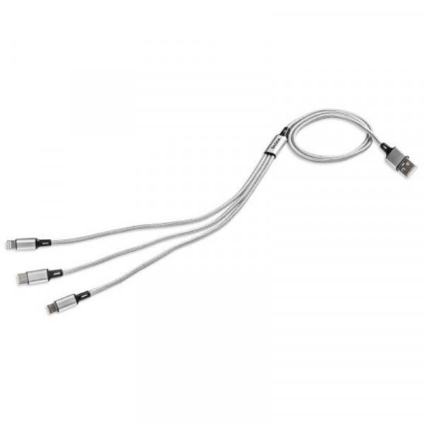Original Skoda USB Ladekabel 3in1 Multifunktionsladekabel USB Lightning Kabel Adapter Accessoires