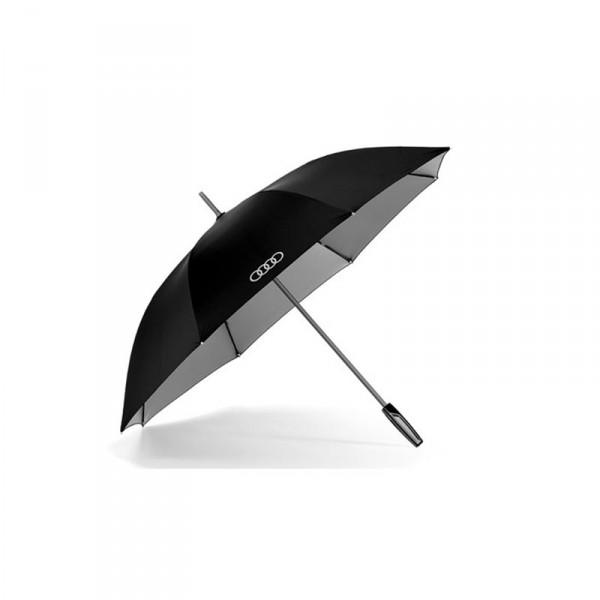 Audi Stockschirm groß Original Schirm Accessoires Regenschirm schwarz titan