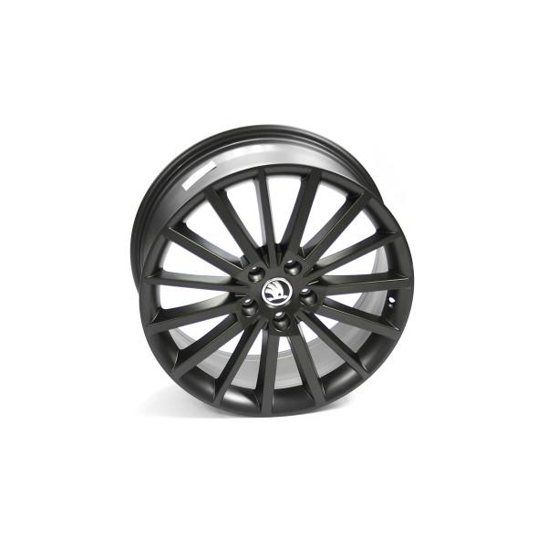 Original Skoda TURINI Aluminiumfelge 18 Zoll Tuning Sport Felge Leichtmetallfelge schwarz-matt